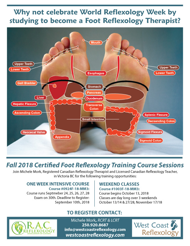 World Reflexology Week Foot Reflexology Certification West Coast